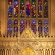 Trinity Church New York City Inside Stained Glass Altar Close Up — Stock Photo #6127605