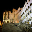 University of Guanajuato Steps Mexico at Night - Stock Photo
