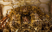 Close Up Golden Altar Valencia Church Guanajuato Mexico — Stock Photo