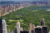Skyscrapers, Buildings, Central Park, Hudson River, New York Cit — Стоковое фото