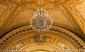 Chandelier Peace Dove Ceiling Basilica Guanajuato Mexico — Stock Photo