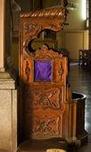 Konfesjonale krzesło bazyliki guanajuato meksyk — Zdjęcie stockowe