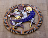 Dancers Symbol Rockefeller Center Radio City Music Hall New York — Stock Photo
