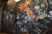 Mural University of Guadalajara, Mexico — Stock Photo