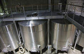 White Wine Stainless Steel Tanks Napa California — Stock Photo