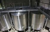 White Wine Stainless Steel Tanks Napa California — Stock Photo