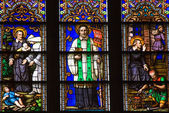 Saint Peter Stained Glass Close St. Patrick's Cathedral New York — Stock Photo