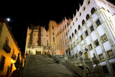 University of Guanajuato Steps Mexico at Night — Stock Photo