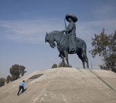 Huge Statue of Zapata on Horse Toluca, Mexico — Stock Photo