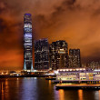 International Commerce Center ICC Building Kowloon Hong Kong Har - Stok fotoğraf