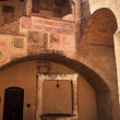 Stock Photo: Medieval Dante Hall Courtyard Well SGimignano Tuscany Italy