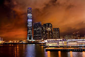 International Commerce Center ICC Building Kowloon Hong Kong Har — Stock Photo