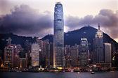 Hong Kong Harbor Evening from Kowloon — Stock Photo