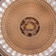 Stock Photo: US Capitol Dome Rotunda Apothesis George Washington DC