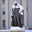 Albert Gallatin Statue After Snow US Treasury Department Washing — Stock Photo