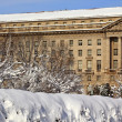 Justice Department After the Snow Constitution Avenue Washington — Stock Photo