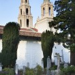 Cemetary Garden Statues Graves Mission Dolores SFrancisco Cal — Stock Photo #6146801