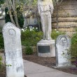 Monk Statue Cemetary Mission Dolores San Francisco California — Stock Photo