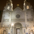 Saint Peter and Paul White Catholic Church Night San Francisco C — Stock Photo
