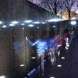 Vietnam Memorial Black Wall, Night Washington DC — Stock Photo #6146998