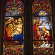 Stock Photo: Notre Dame Cathedral Stained Glass Saigon Vietnam