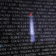 Stock Photo: Washington Monument Reflection Closeup Vietnam Memorial Black Wa