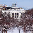 White House After the Snow Constitution Avenue Washington DC — Foto Stock