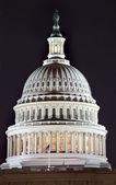 US Capitol Dome Close Up Night Washington DC — Stock Photo