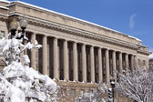 Commerce Department After the Snow Constitution Avenue Washingto — Stock Photo