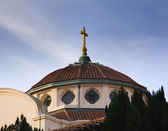 Dome Sky Golden Cross Mission Dolores San Francisco California — Stock Photo