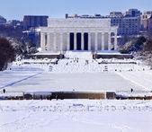 Lincoln Memorial After Snow Washington DC — Stock Photo