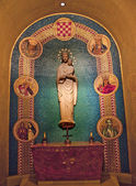 Mary Statue Shrine of Immaculate Conception Insides Washington D — Stock Photo