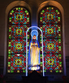 Notre Dame Cathedral Inside Virgin Mary Shrine and Statue — Stock Photo