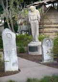 Monk Statue Cemetary Mission Dolores San Francisco California — Stock Photo