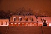 炎夏雪乔治敦房顶的暴风雪华盛顿特区 — 图库照片