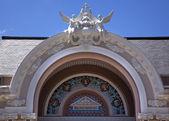 Oude operagebouw gemeentelijke theater nha hoed thanh pho voorzijde sluiten — Stockfoto