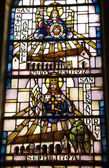 Saint Michael San Fernando Stained Glass Mission Dolores San Fra — Stock Photo