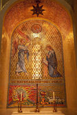 Angel Mary Mosaic Shrine of Immaculate Conception Inside Washing — Stock Photo