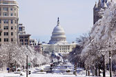 US Capital Pennsylvania Avenue After the Snow Washington DC — Stock Photo