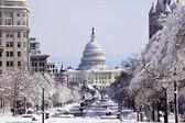 US Capital Pennsylvania Avenue After the Snow Washington DC — Stock Photo