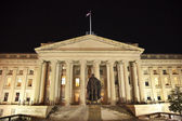 US Treasury Department Albert Gallatin Statue Washington DC — Stock Photo