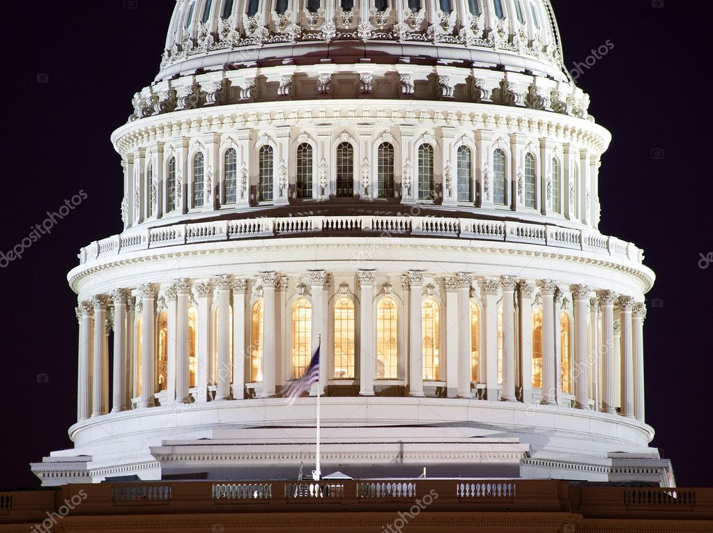 US Capitol Dome Closeup Congress House Capital City Washington DC  Stock Photo #6146631