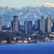 Стоковое фото: Bellevue Lake Snowy Cascade Mountains Washington State