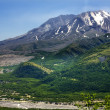 Green Mountains River  Mount Saint Helens National Park Washingt - Stok fotoraf