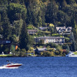 Stock Photo: Lake Washington Mercer Island from Seward Park