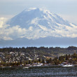 Royalty-Free Stock Photo: Mount Rainier from Lake washington Seattle