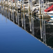 Stock Photo: MarinReflections Boats Edmonds Washington