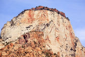 The Sentinel Tower of Virgin Zion Canyon National Park Utah — Stock Photo