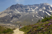Hiking Mount Saint Helens National Park Washington — Stock Photo