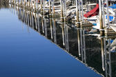 Marina Reflections Boats Edmonds Washington — Stock Photo